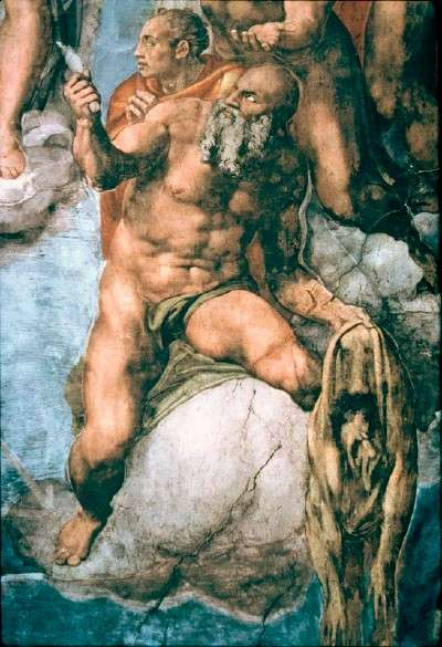 Michelangelo, detail from Last Judgement, Sistine Chapel, The Vatican, Rome (1536-41).