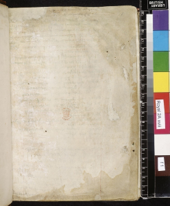 "A ""blank"" page. British Library, Royal MS 2A xviii, fol.1r. ©British Library Board"