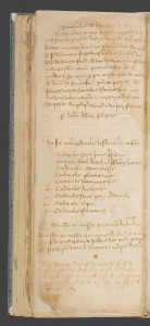 A note on English and French currency beneath a reproduction of a letter by Nicholas Frome, Abbot of Glastonbury from 1420 to 1456 and a short prayer. Trinity College, Cambridge, MS O.9.38, fol.79v. Image via Scriptorium: Medieval and Early Modern Manuscripts Online
