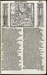 From Chaucer's 'Knight's Tale' in 1550 edition of Chaucer's 'Workes'