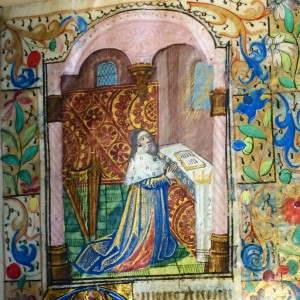 Birkbeck hours; King David at Prayer (fol. 85r)