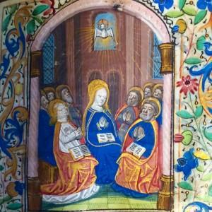 Birkbeck Hours; Pentecost (fol. 105r)