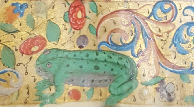 Frog detail in the Birkbeck Hours
